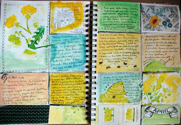 Art Journal Calendar Pages : Moved permanently